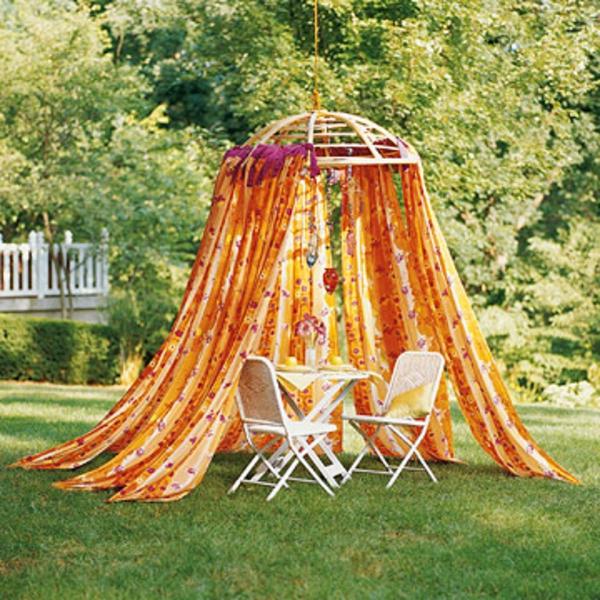 Wochenende Garten Idee Dekoration Vorhang