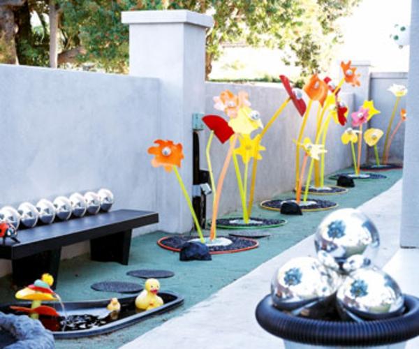 Gartendeko Ideen Aus Preiswerten Und Günstigen Materialien Gartendekoration Mit Reifen