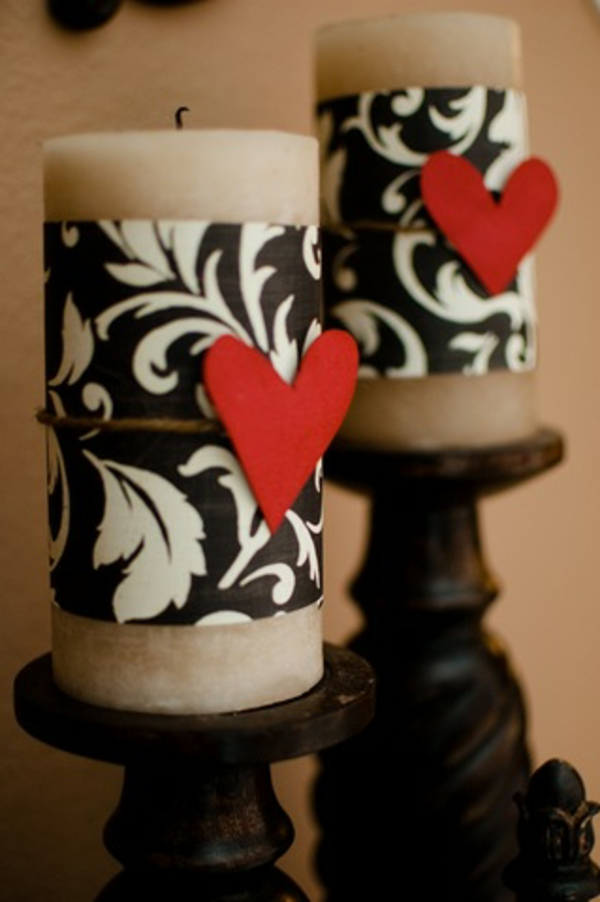 Valentinstag Kerzen Dekortion