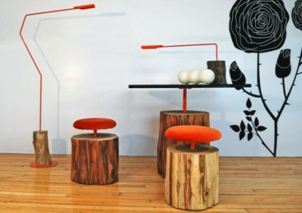 21 kreative deko ideen aus baumstumpf selber machen. Black Bedroom Furniture Sets. Home Design Ideas