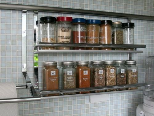 gewürze küchenschienen metall stahl idee