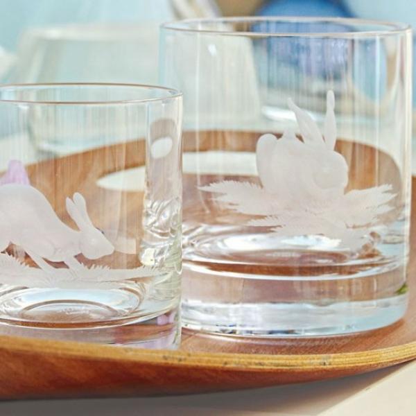 gläser festlich tisch dekoration idee ostern osterhase