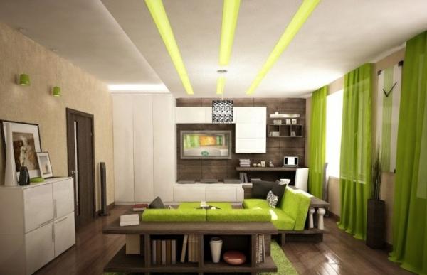 wohnzimmer ideen grün | möbelideen, Modern Dekoo