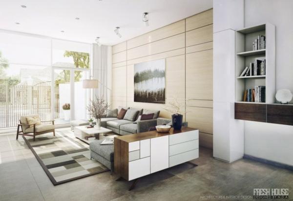 41 . Wohnzimmer gemütliches licht : Moderne Wohnzimmer – viel Licht ...