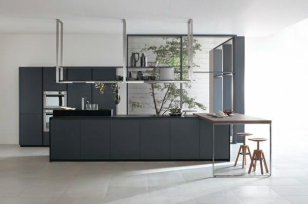 grau kücheninsel designs minimalistisch idee design