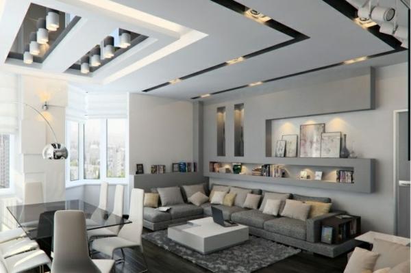 modernes wohnzimmer grau. wohnzimmer ideen rot | möbelideen ...