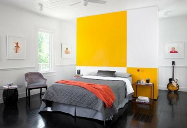 Fesselnd 33 Ideen Für Den Platz Hinter Dem Bett Im Schlafzimmer ...
