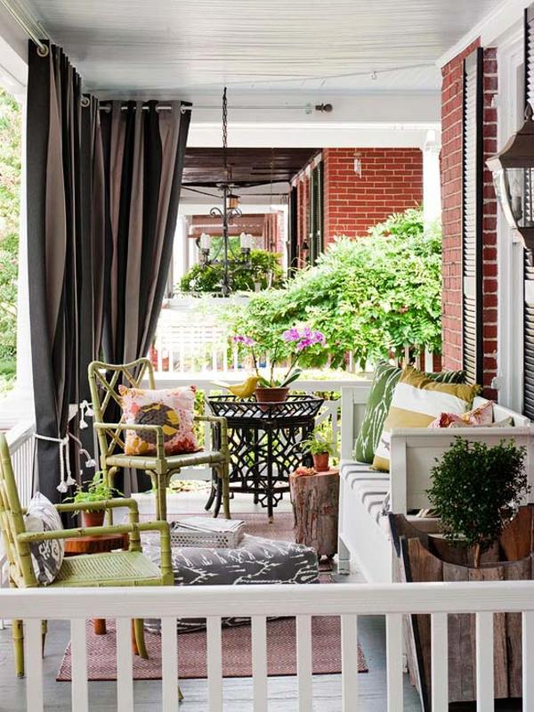 Schmale Lange Terrasse Gestalten : 16 Outdoor Ideen  Ermöglichen Sie sich erholsame Atmosphäre auf der