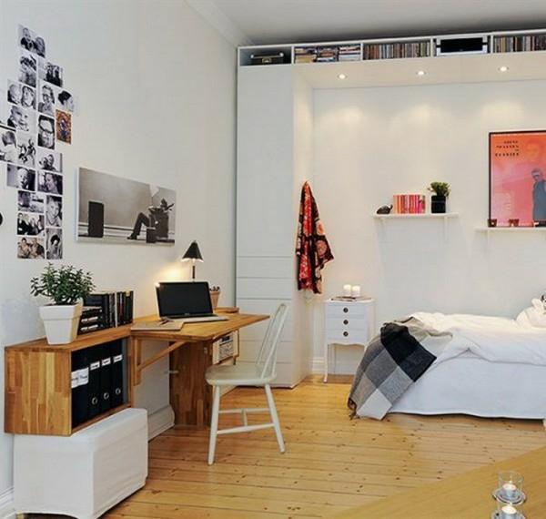 30 skandinavische schreibtische - stilvolle deko ideen, Schlafzimmer