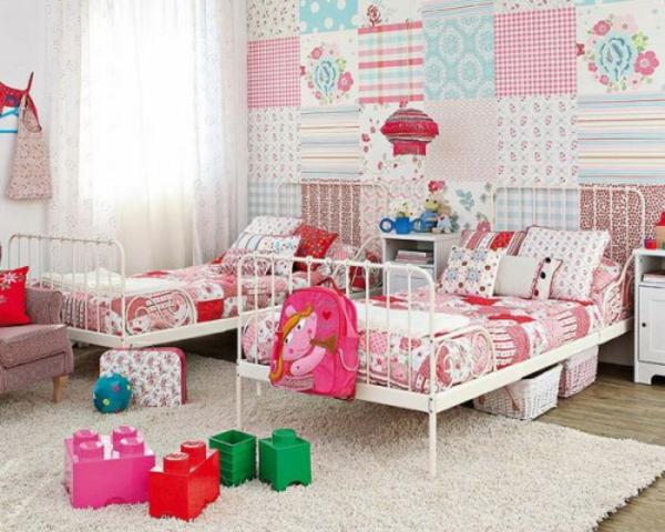 patchwork wanddekoration im Kinderzimmer