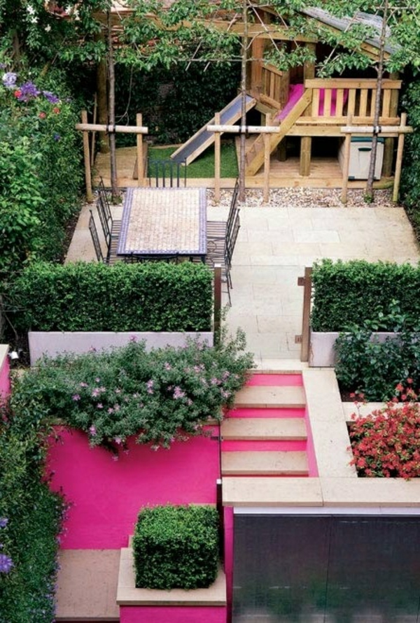 hinterhof patio bunt farben pastell idee design