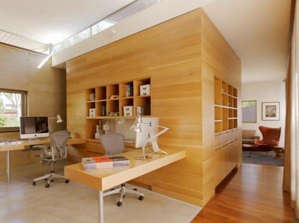 Arbeiten Sie Von Zu Hause Aus Interior Design Hölzerne Wände