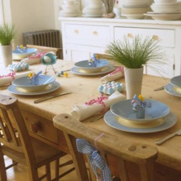 holz tisch idee dekoration familienfeste ostern