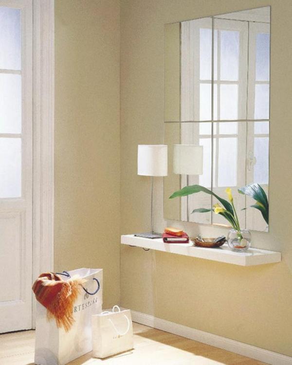 installation-von-spiegeln-idee-design-hausflur-weiss-ausstattung