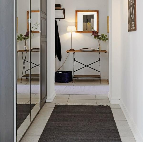 installation von spiegeln idee design hausflur