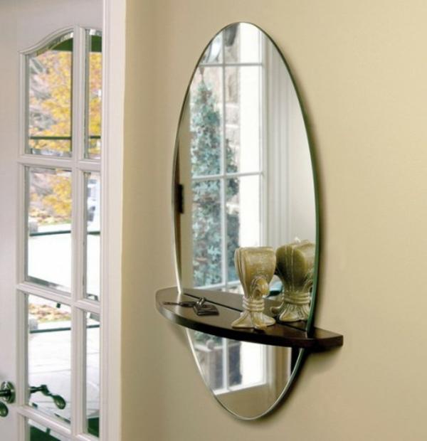 installation von spiegeln idee design ovale formen