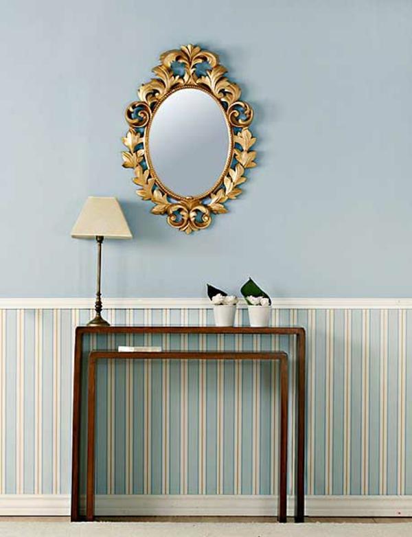 installation-von-spiegeln-idee-design-stehlampe-klassisch
