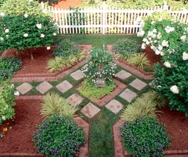 Garten Idee Deko Architektonisch Fliesenleger