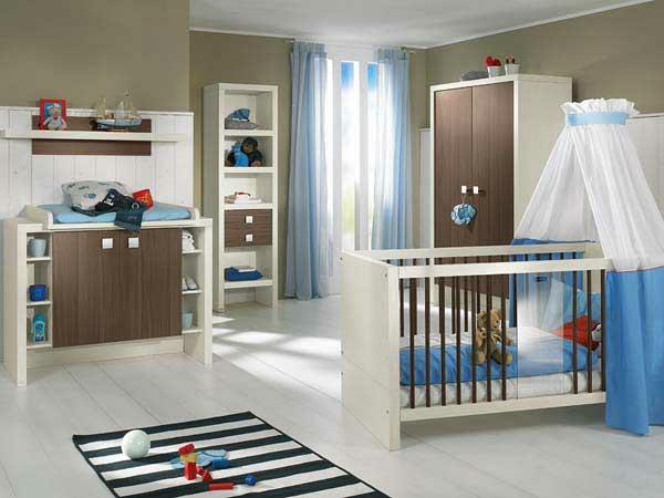 verspielte kinderzimmer idee design ausstattung blau farbe