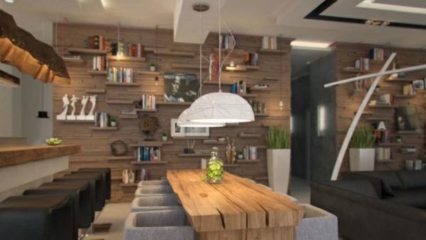 kche esszimmer holz motive extravagant minimalistisch - Kreative Ideen Aus Holz