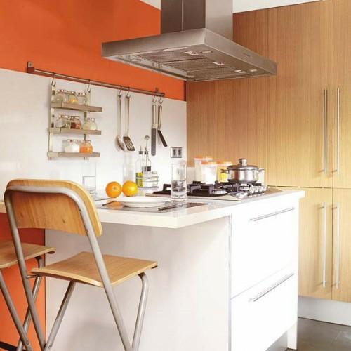 küchenblock kochstelle küchenschiene holz küchenstühle idee