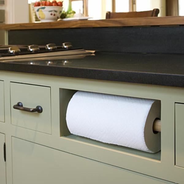 küchenpapier klug praktisch organisieren idee upgrades