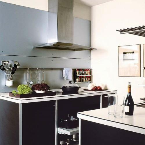 Arbeitsplatten Granit Einbaubeleuchtung Einrichtungsideen Küche