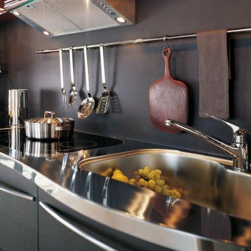 küchenschienen praktisch idee besteck küchentafel