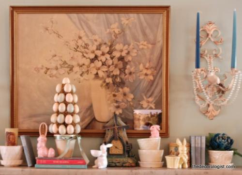 tolle deko ideen f r kaminsims zu ostern. Black Bedroom Furniture Sets. Home Design Ideas