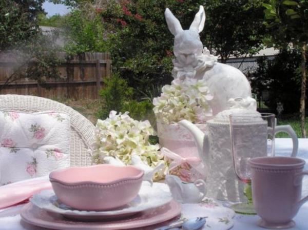 kaninchen idee deko fest feier familie ostern keramik outdoor
