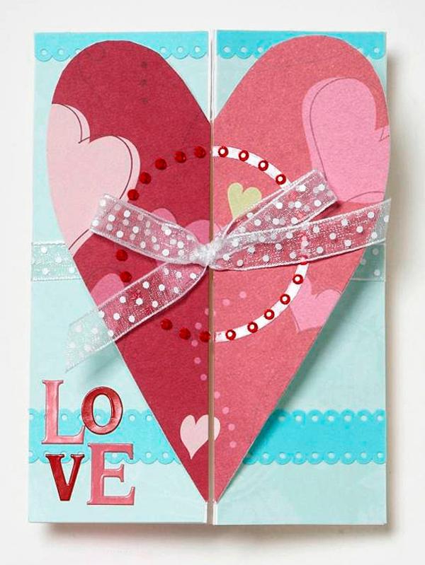 valentinstag eleganz karte form idee