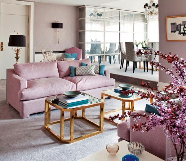 kastell töne sofa möbel  interieur in pastels