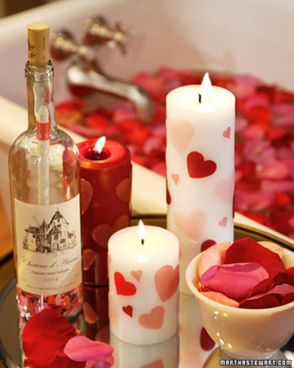 Valentinstag Kerzen Ideen