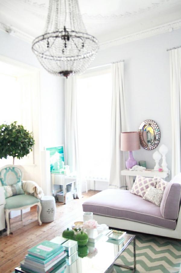 klassisch element blau und violet interier wohnung
