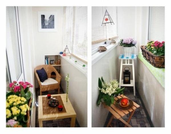 kleinen-Balkon--holz-tisch