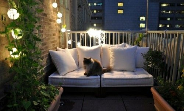 Arbeitszimmer gestaltungsideen ikea  30 Coole Ideen einen kleinen Balkon gemütlich zu machen