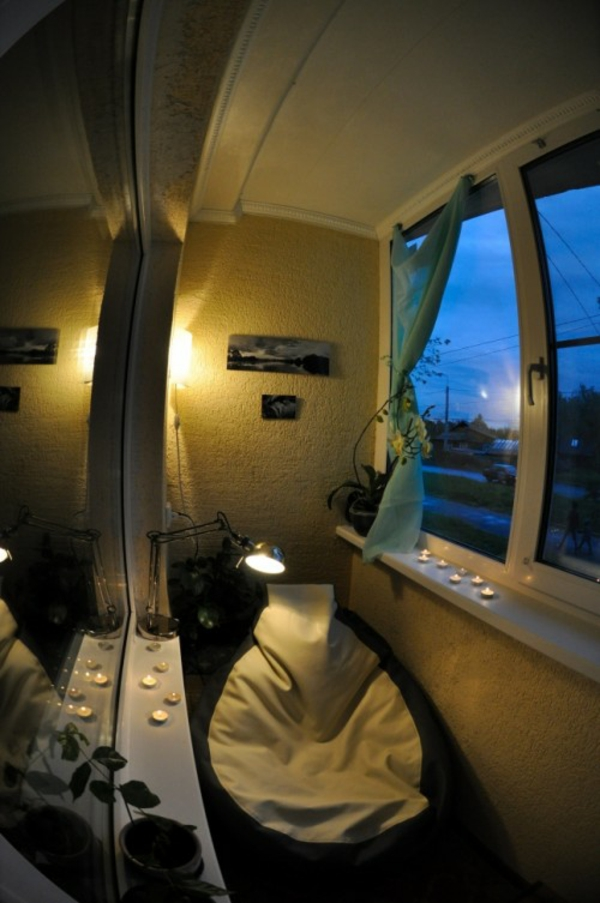 kleinen-Balkon-nacht
