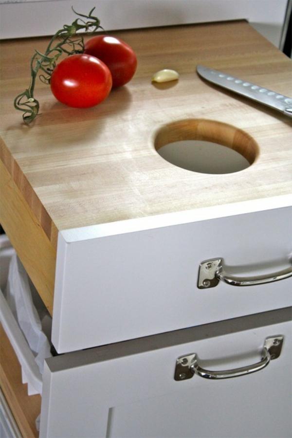 kluge selber machen küchenschrank ideen abfall