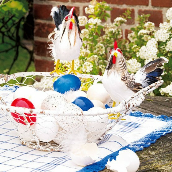 korb eier picknick outdoor dekoration ostern idee mittagessen
