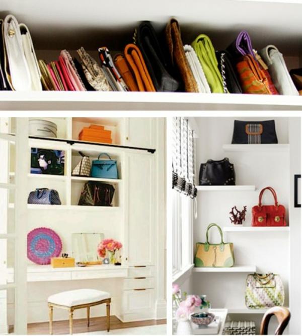 kreative aufbewahrungsideen f r ihre damentaschen. Black Bedroom Furniture Sets. Home Design Ideas