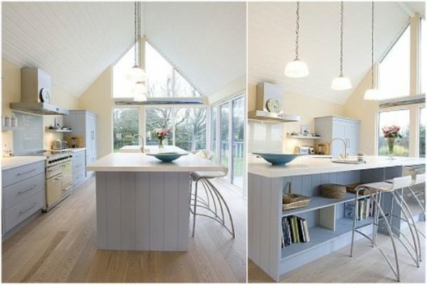 Moderne weiße küche  Weisse Kueche Holz Modern Design – edgetags.info