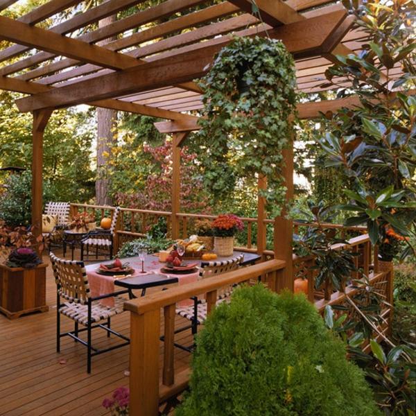 Terrasse-Möbeln Behaglichen Außenwohnraum patio laube