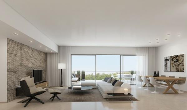 Wohnzimmer Ideen : wohnzimmer ideen mit steintapete ...