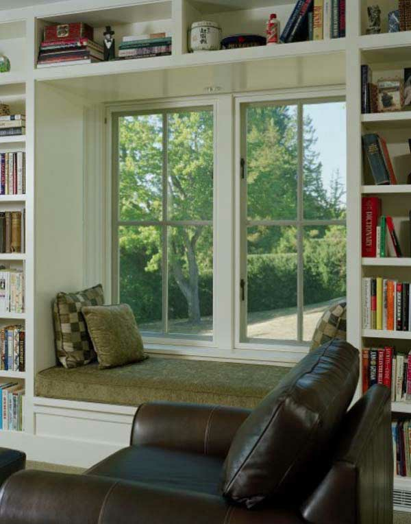 ledersofa design idee interieur ausstattung erkerfenster