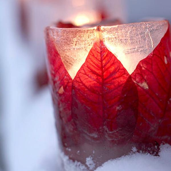 dekoration im garten winter halter idee winter