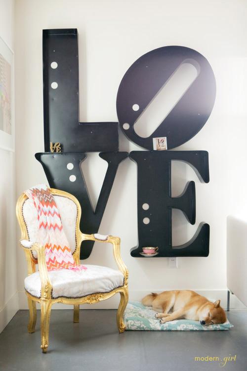 liebe wort interieur dekoration valentinstag idee