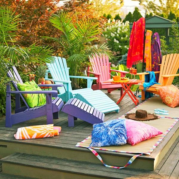 garten stuhl bunt outdoor ideen