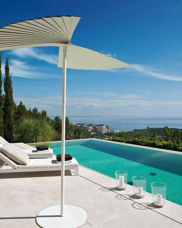 mallorcan stil spektakulär schwimmbecken pool idee