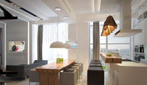 minimalistisch idee design holz extravagant weiss ausstattung esszimmer - Ideen Esszimmergestaltung