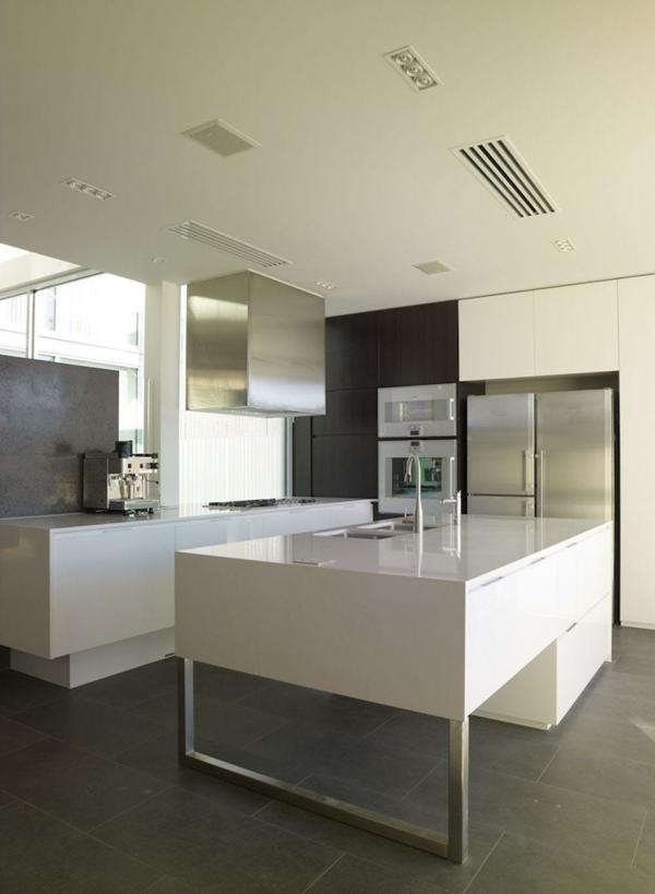 minimalistisch küche design weiss farbe haus wohnung idee